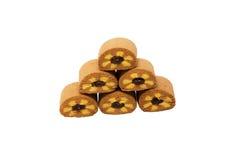小山饼干盛肉盘用苹果果酱 免版税库存图片