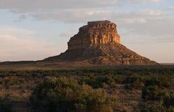 小山chaco文化fajada有历史的国家公园 库存图片