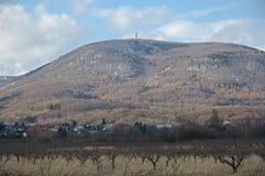 小山Jedlova,捷克共和国 免版税库存图片