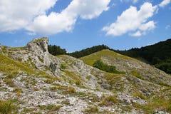 从小山Jelenia hora的看法在周围 免版税库存图片