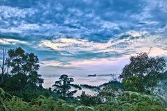 小山kuantan lembing的sg 图库摄影