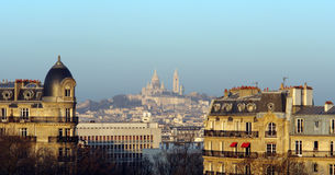 小山montmartre巴黎 免版税库存照片
