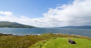 小岛仔细考虑苏格兰 库存图片
