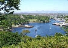 小岛刘易斯・ stornoway的苏格兰 库存照片
