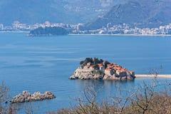 小岛在黑山 免版税图库摄影