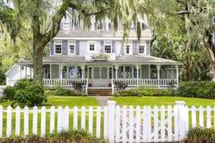 小岛希望, GA美国- 2013年11月1日:历史的住宅区 免版税图库摄影