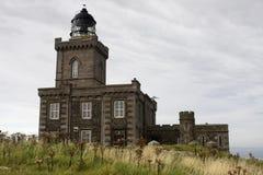 小岛灯塔可以苏格兰 免版税库存照片