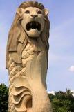 小岛merlion sentosa新加坡 免版税库存照片