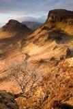 小岛quiraing的skye 库存图片
