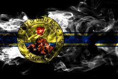 小岩城市烟旗子,阿肯色状态,上午美国  皇族释放例证