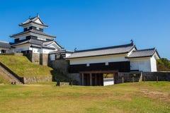 小岭城堡在福岛在日本 免版税库存照片