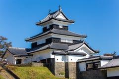 小岭城堡在福岛在日本 免版税库存图片