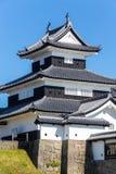 小岭城堡在福岛在日本 免版税图库摄影