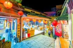 小巷在Jiufen镇 免版税库存照片