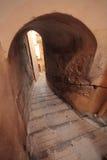 小巷道和台阶在地中海,芒通法国 库存照片
