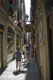 小巷道在巴塞罗那 免版税库存照片