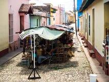 小市场在市特立尼达古巴 图库摄影