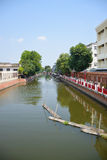 小平安的运河在曼谷泰国0014 免版税库存图片