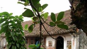 小庭院的角落在议院以后的 免版税库存照片