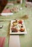小开胃菜板材 图库摄影