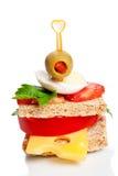 小开胃菜的三明治 免版税库存图片