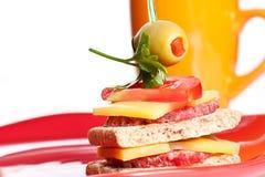 小开胃菜的三明治 免版税库存照片
