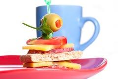 小开胃菜的三明治 库存图片