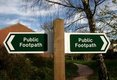 小径公共符号 库存图片