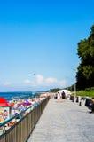小径和海滩 免版税库存照片