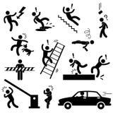 小心危险溜滑安全性的冲击 免版税库存照片