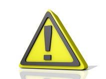 小心图标 免版税库存图片