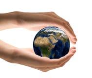 小心地球 免版税库存照片