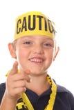 小心孩子指向 免版税图库摄影