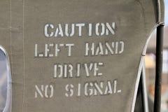 小心左手驱动没有信号 免版税库存照片