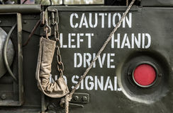 小心左手驱动没有信号 免版税库存图片
