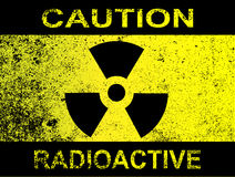 小心放射性标志 免版税图库摄影