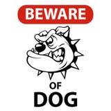 小心有狗 免版税库存照片