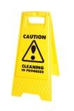 小心清洁符号 免版税图库摄影
