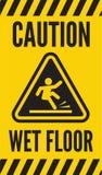 小心湿地板 免版税库存图片
