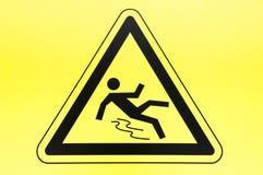 小心湿楼层符号 库存照片