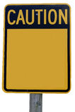 小心符号 库存图片