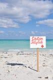 小心水母标志 免版税库存照片