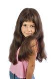 小快乐的女孩 库存图片