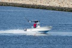 小快速汽艇以速度 库存照片