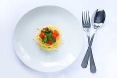 小意大利面食的部分 库存图片