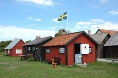 小房子的行 图库摄影