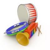 小手鼓、鼓笛和鼓 免版税库存图片