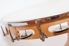 小手鼓的边在白色背景的 图库摄影