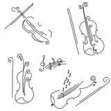 小提琴。 您的设计的收集。 免版税库存图片