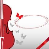 小提琴和蝴蝶 图库摄影